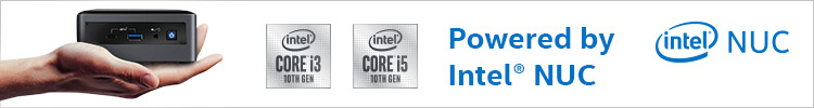Banner Powered by Intel NUC