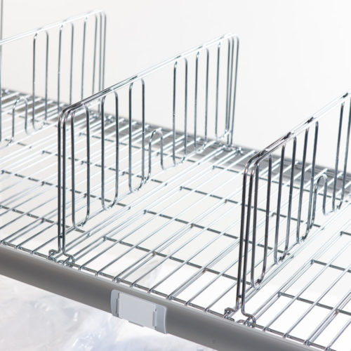 Wire shelf dividers