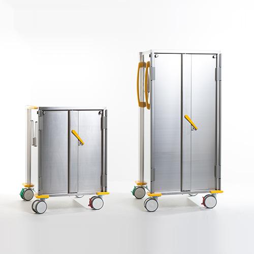 Sterisystem® gesloten RVS transportwagens